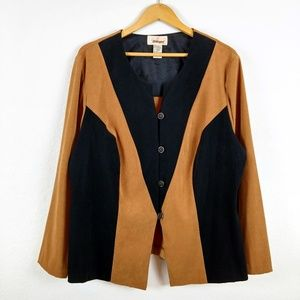 Vtg Worthington Colorblock Button Suit Blazer Coat